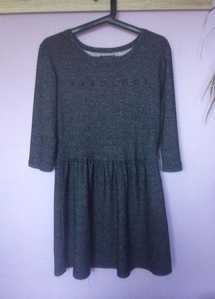 Kup mój przedmiot na #vintedpl http://www.vinted.pl/damska-odziez/krotkie-sukienki/14005910-melanzowa-szara-sukienka-rozkloszowana-sinsay-38-m
