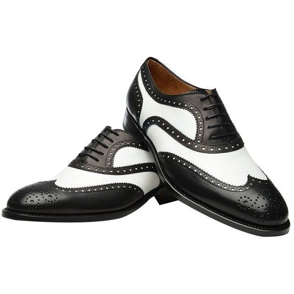 Geninue Leather Spectator shoes Men's Black White Lace Up Wing Tip... ($50) ❤ liked on Polyvore featuring men's fashion, men's shoes, men's dress shoes, oxford, saddle shoe, spectator shoe, men's saddle oxford shoes, black white mens dress shoes, mens lace up dress shoes and mens dress loafers shoes