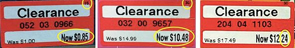How Target clearance works...it's true.  Memorize the important bits.  For example, if the clearance tag ends in $0.*8, the item will be marked down again!