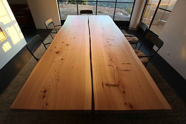 John Taylor Design Monterey Cypress Live Edge Slab Table
