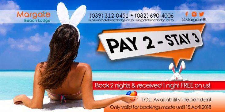 Book a 2-night stay & enjoy an extra night #FREE !