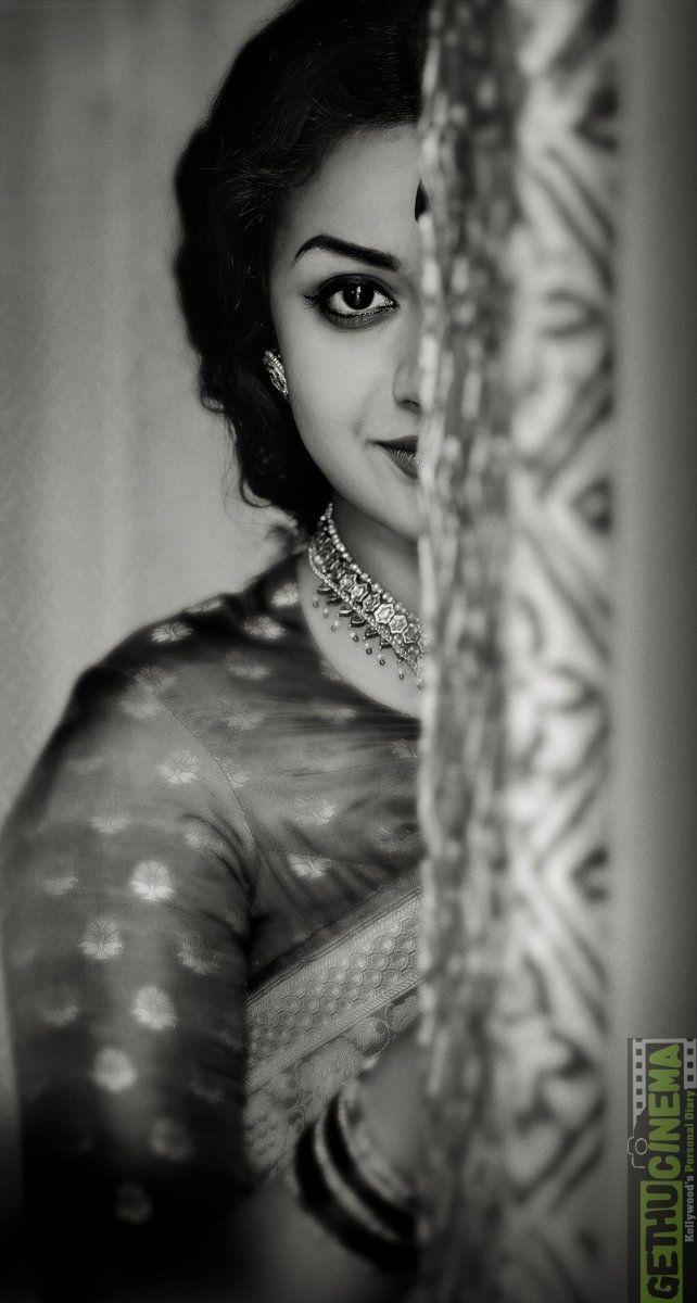 Keerthy Suresh movie Savitri black & white images Actress Keerthy