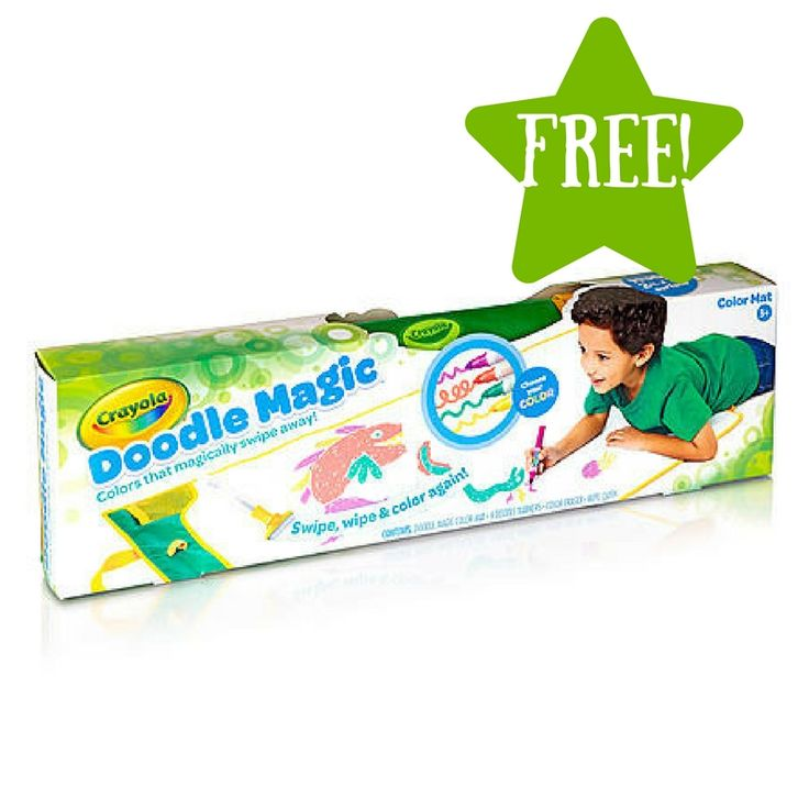 free crayola doodle magic color roll kit after points