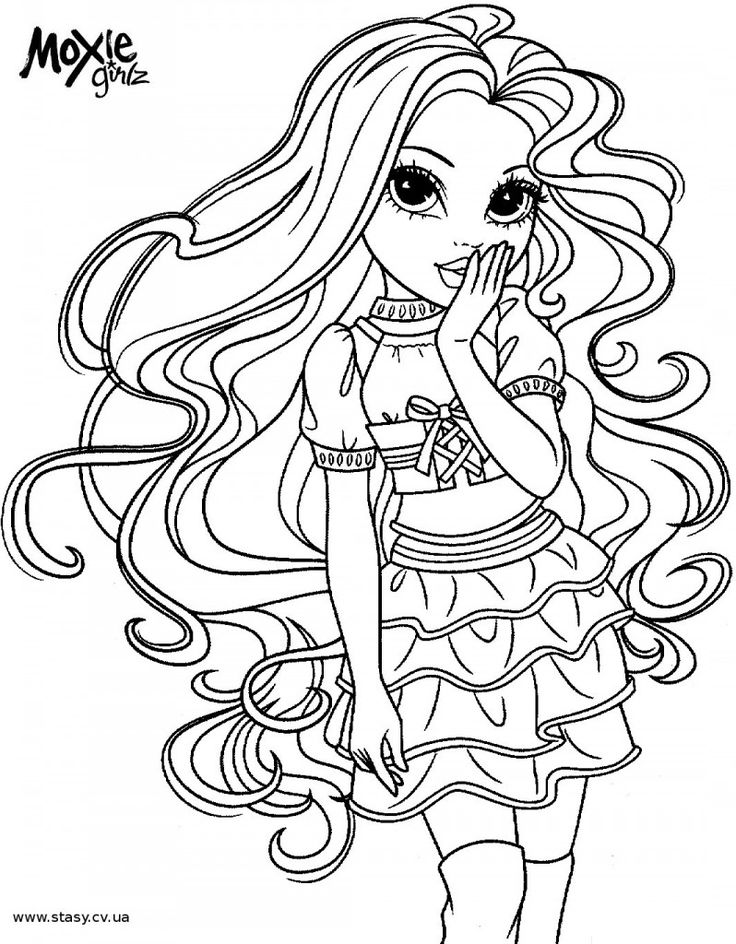 Free moxie girls coloring pages ~ 51 best Moxie Girlz & Bratz ~ Coloring Pages images on ...