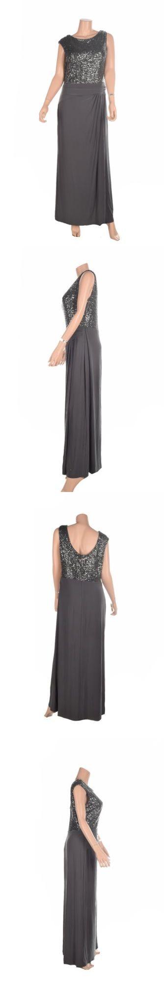 Dresses 175784: Lauren Ralph Lauren Petite Sequined Cap-Sleeve Dre Mercury  16 -\u003e