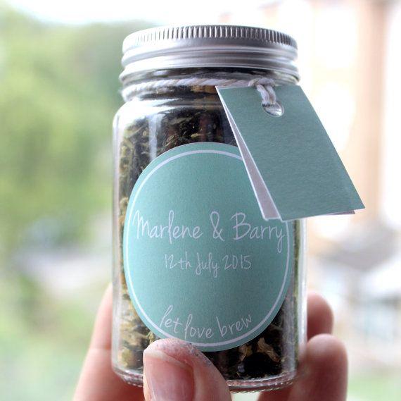 SAMPLE Tea Wedding Favour Jars: 1 Jar SAMPLE Little Tea by PostTea