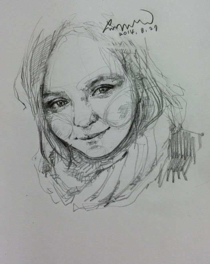 Daily face drawing 3. Anna thank you so much! By areasdrawing