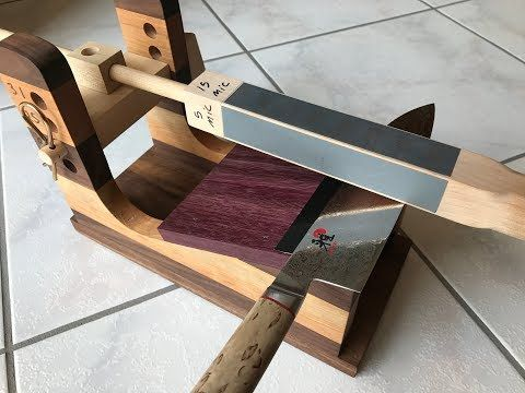 Incredible Woodworking  » DIY GUIDED knife sharpener 3.0