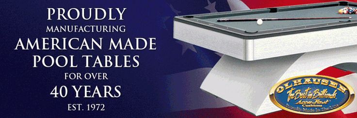 Olhausen Pool Tables - Made in the USA!