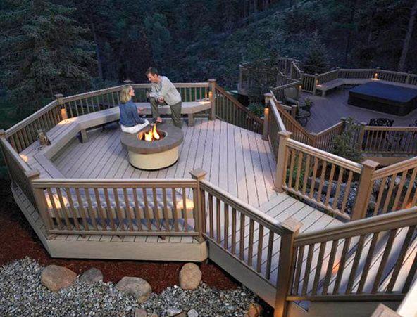 Wood Deck Elevation : Best high elevation decks images on pinterest cover