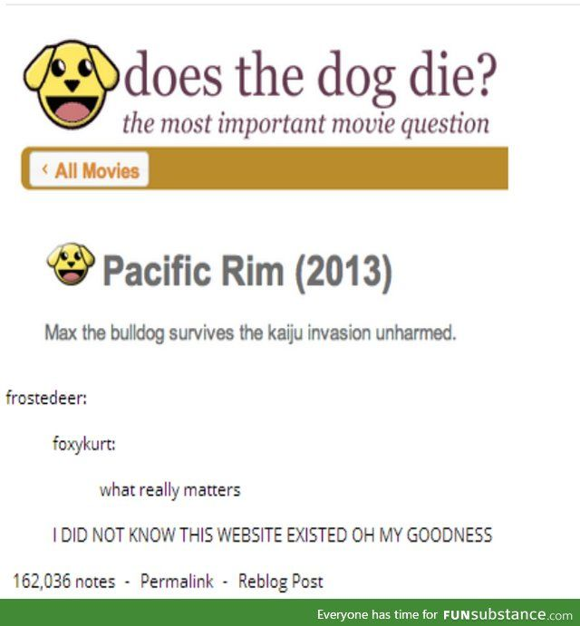 Does the dog die? Find out at www.doesthedogdie.com (Spoilers!)