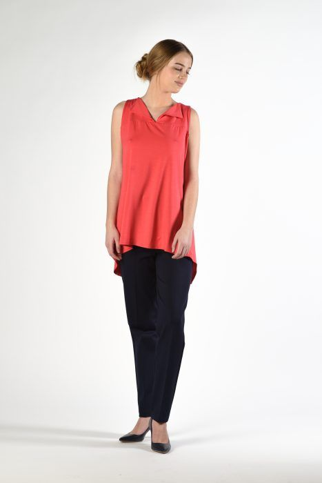 Sleeveless Drape Blouse $159