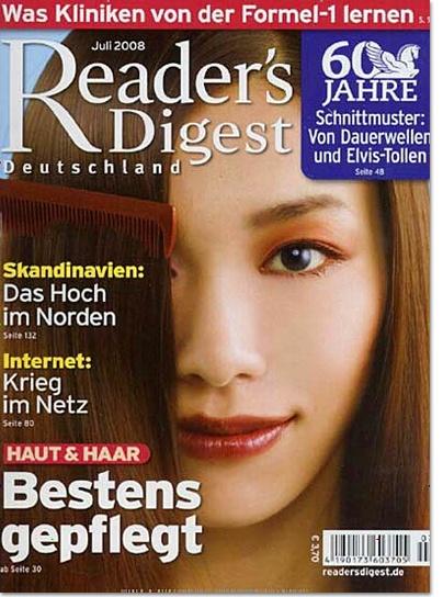 """""""Readers Digest"""" ist die meistgelesene #Zeitschrift der Welt. Die deutsche Ausgabe erscheint monatlich und informiert über alle Belange des täglichen Lebens. #Bestellung unter http://www.easyabo.de/zeitschriften/01736:das-beste-abo Preis im #Geschenkabo: € 36.00 - #Geschenk endet nach 1 Jahr automatisch!"""