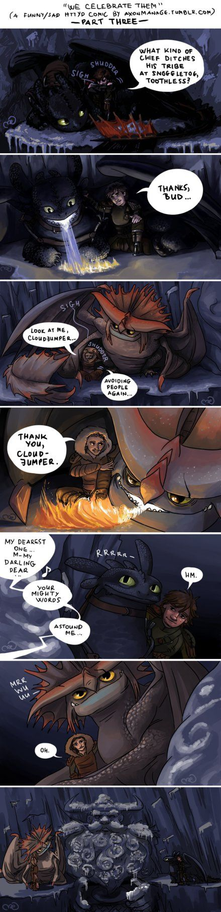Part Three of a funny/sad HTTYD comic by axondrive on deviantART. I am not okay...