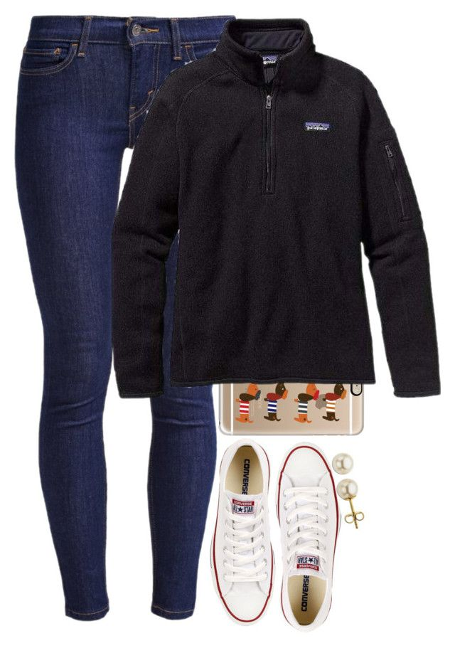 """""""Cute"""" by meljordrum ❤ liked on Polyvore featuring Casetify, Levi's, Patagonia, Converse and Lord & Taylor"""