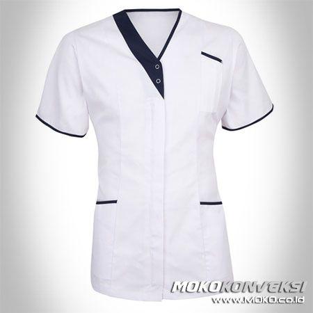 SERAGAM PERAWAT, MEDIS & PAKAIAN RUMAH SAKIT. Model Baju Perawat Rumah Sakit Warna Putih & Hitam.