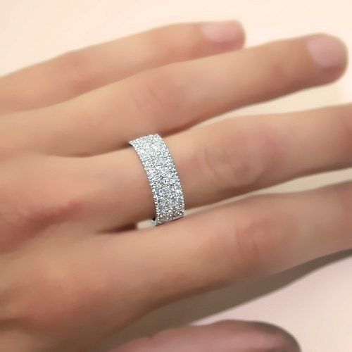 Diamond Anniversary Ring 14k White Gold or 14k Yellow by ldiamonds, $1193.00