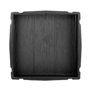 Kunststoff-Form für Terrassenpaneele Holzpaneele 40x40cm - Aufsicht