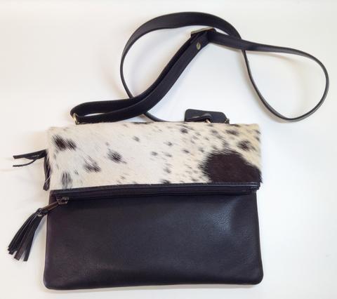 Leather Foldover Handbag - Sweden