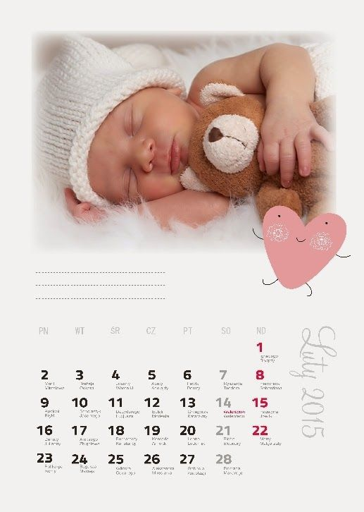 Fotokalendarz projekt izziBook.pl - szablon fotokalendarza z miejscem na notatki