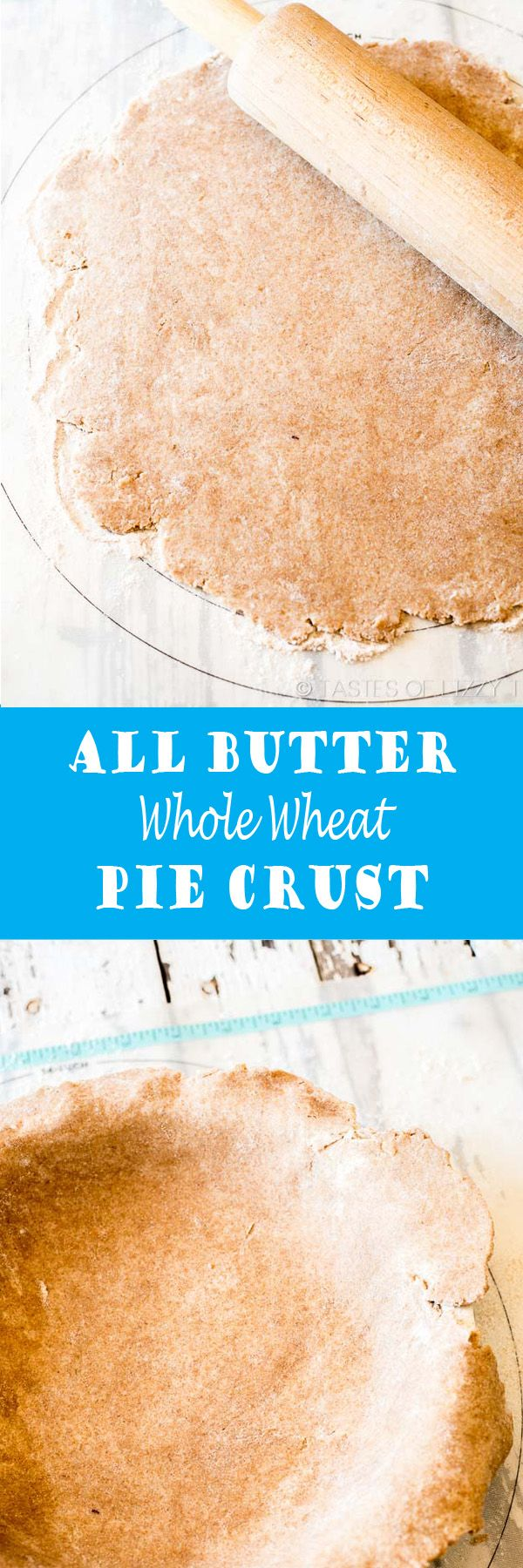 Wheat flour and wheat germ keep this All Butter Whole Wheat Pie Crust full of healthy whole grains. Read about our tricks for a healthier, flaky pie crust.