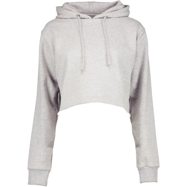 Boohoo Megan Cropped Overhead Hoody | Boohoo ($16) ❤ liked on Polyvore featuring tops, hoodies, long-sleeve crop tops, long sleeve tops, white cotton hoodie, cotton hooded sweatshirt and cropped hoodies