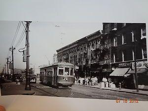 1950 Rockaway Avenue Brownsville Brooklyn NYC Trolley Photo EBAY