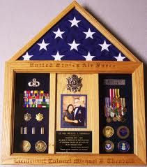 military shadow box with photo