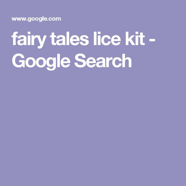 fairy tales lice kit - Google Search