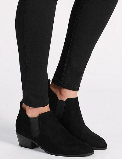 Block Heel Ankle Boots with Insolia® | Marks & Spencer London