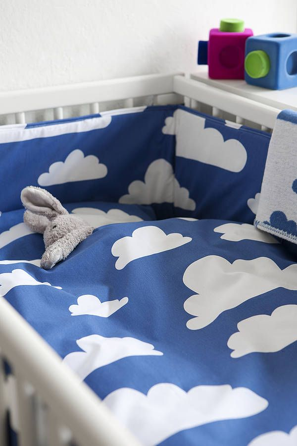 Cot Bed Duvet Cover Set By Nubie Modern Kids Boutique Notonthehighstreet