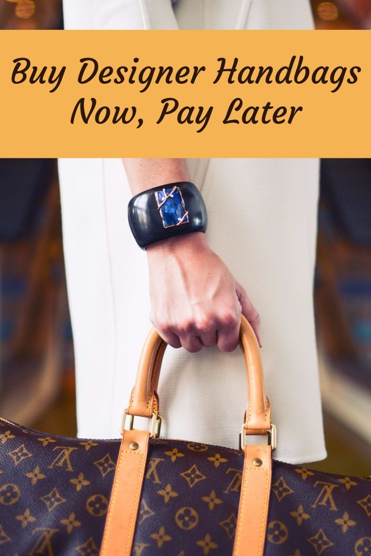 List of online stores that sell handbags and purses, so you can buy now and pay later with deferred billing or make payments. #handbag #handbags #designer #louisvuitton #buynowpaylater #purse