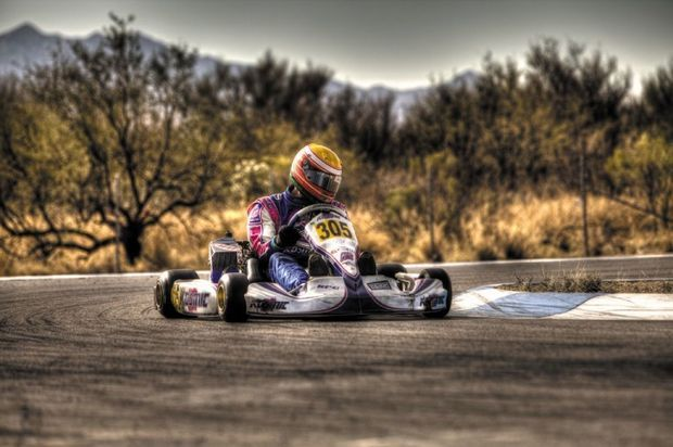Parker McKean gets the win in the Rotax Challenge of the Americas race in Tucson, Ariz. BRUCE MCKEAN/COURTESY PHOTO