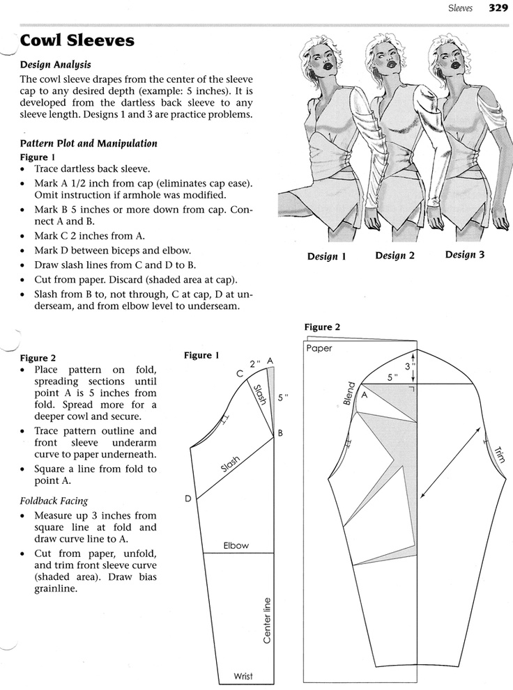 manches drapées - Cowl sleeves