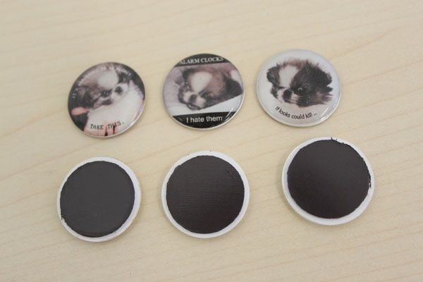 Make your own domed fridge magnets