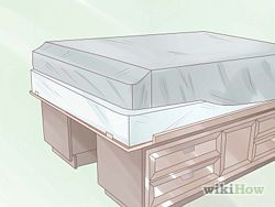 How to make a captains bed from two dressers