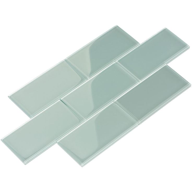 Giorbello Baby Blue Subway 3 in. x 6 in. x 8 mm Glass Backsplash and Wall Tile (5.5 sq. ft./case)-G5916