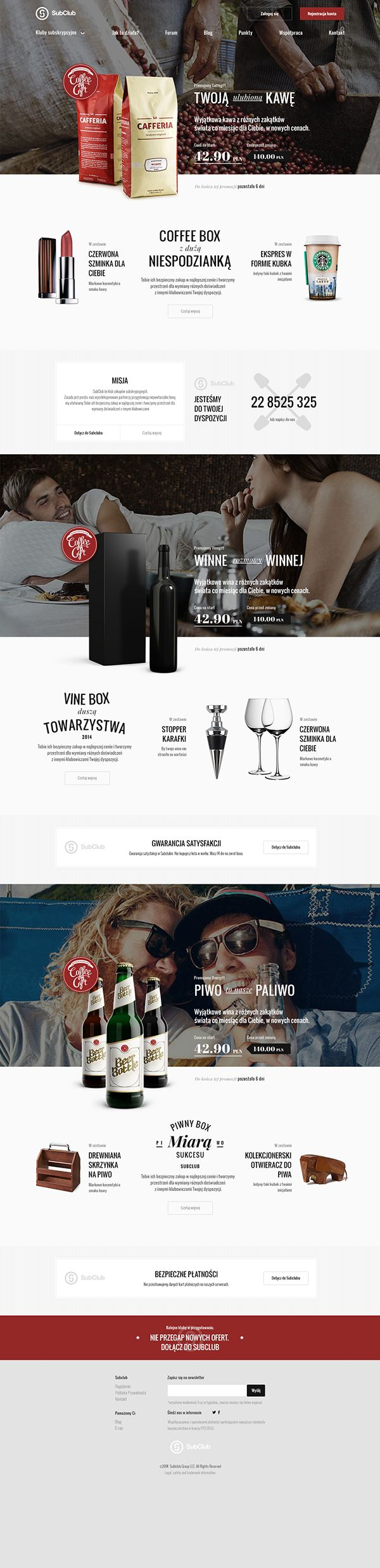 Unique Web Design, Subclub #WebDesign #Design