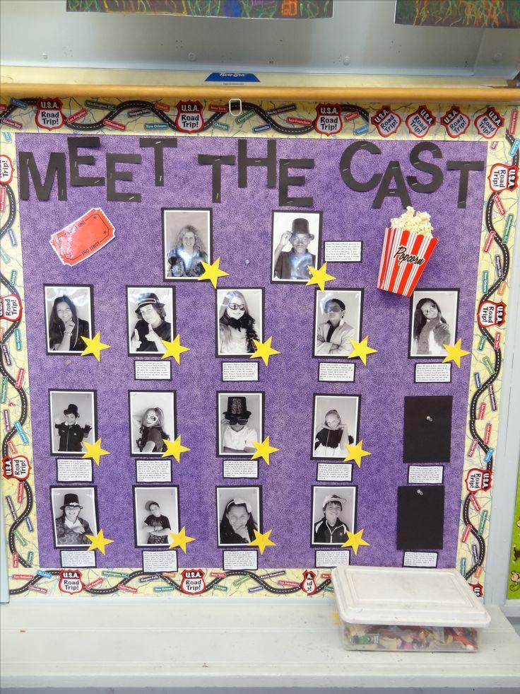 meet our caste bulletin board