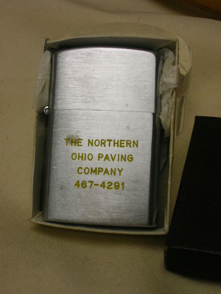 "Penguin Lighter Advertising ""The Northern Ohio Paving Company"" Never Used  #Penguin"
