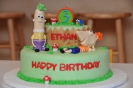 "If my next birthday cake does not look exactly like this I'll be pissed. And yes, that means I want it to say 3 at the top and also ""Ethan"""