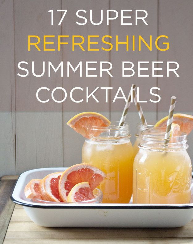 A shandy (aka beer + fizzy or fruity stuff) is the only drink you really need on a summer afternoon.