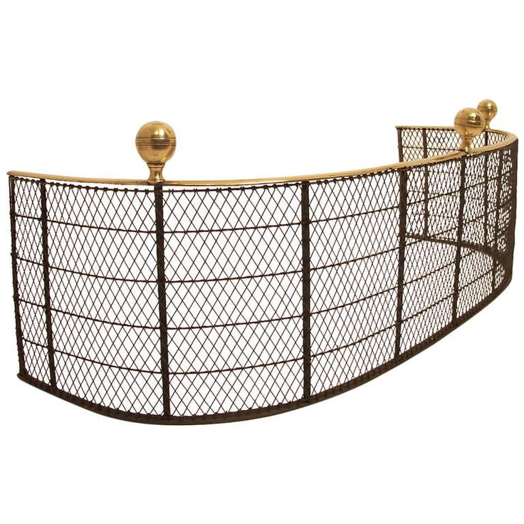 19th Century English Fire Fender/Fire Screen | From a unique collection of antique and modern fireplace tools and chimney pots at http://www.1stdibs.com/furniture/building-garden/fireplace-tools-chimney-pots/