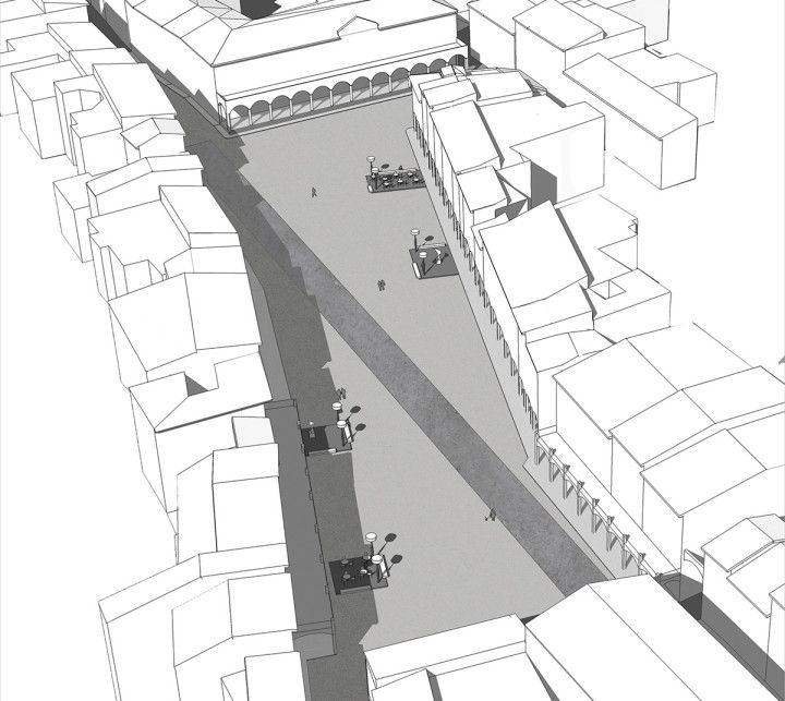 Piazza Marsilio Ficino - Claudio Nardi Architects - Aereal view #architecture #urbanlivingroom