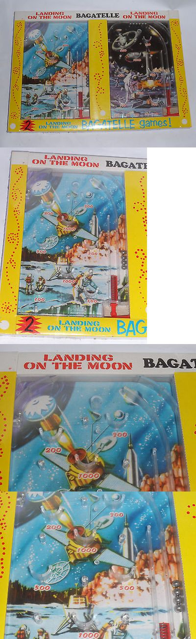 Other Vintage and Antique Toys 30: 2 New Vintage 1960S Landing On The Moon Pinball Games! Hong Kong Space Toy-Nib -> BUY IT NOW ONLY: $69.99 on eBay!