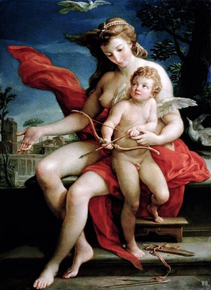 Venus and Cupid. 1785. Pompeo Batoni. Italian. 1708-1787. oil on ...