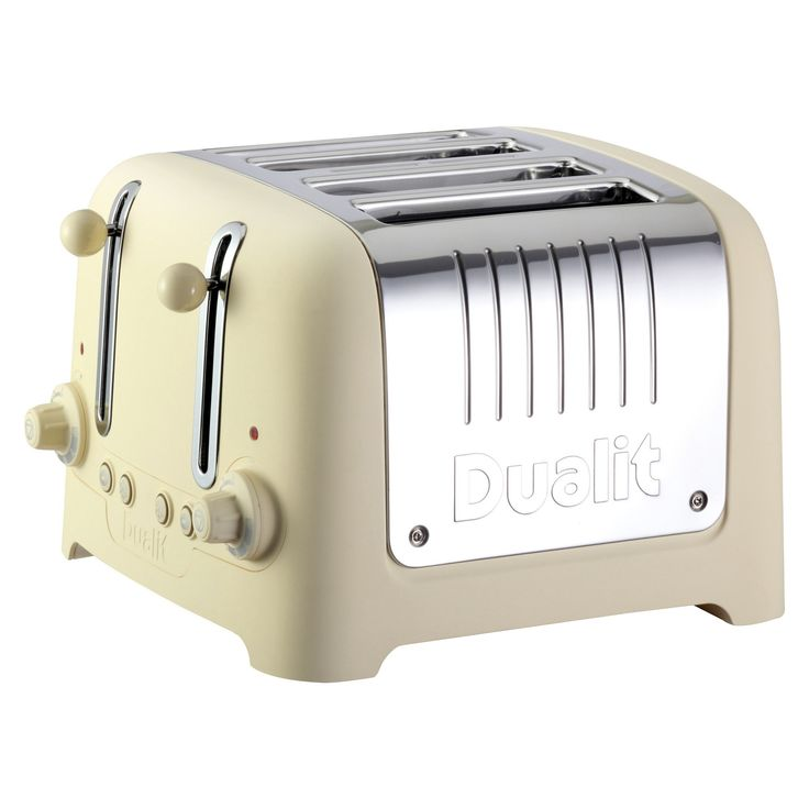 """Dualit Cream Soft Touch Lite Traditional """"chunky"""" Toaster - 4 slice"""