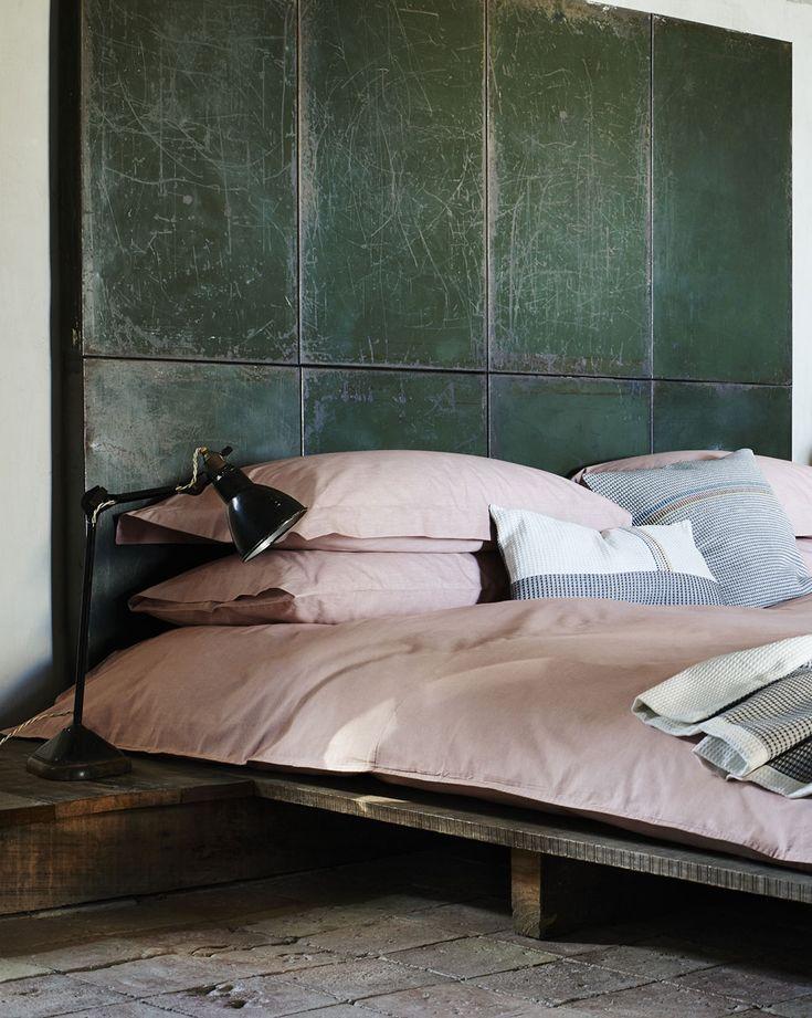 toast pink bedlinen | #bedroom #headboard