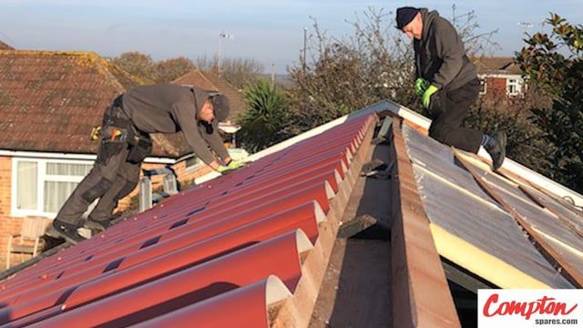 Comptonspares Com Replace Banbury Garage Garage Roof With Tile Effect Roof Aluminum Roof Roof Coating
