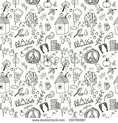 Eco signs seamless pattern - stock vector